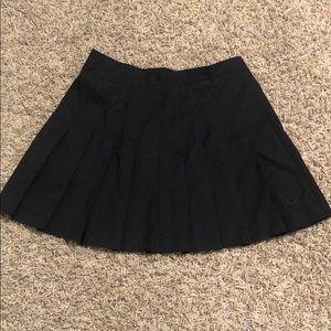 black nike pleated tennis skirt